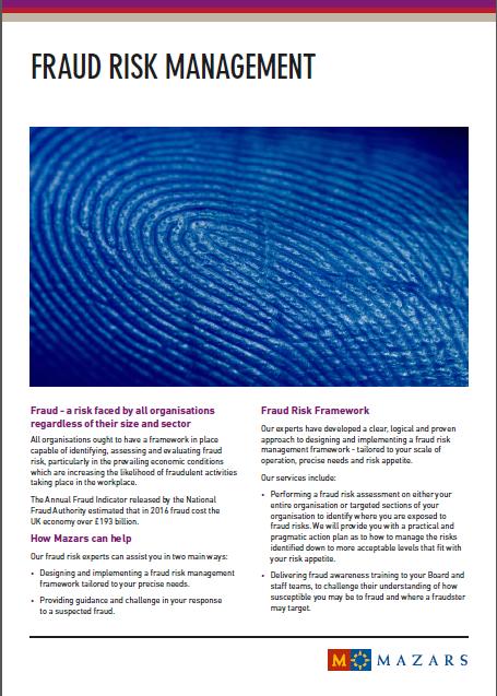 Fraud risk management mazars united kingdom maxwellsz