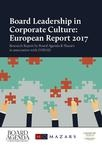 Board Leadership in Corporate Culture European Report 2017
