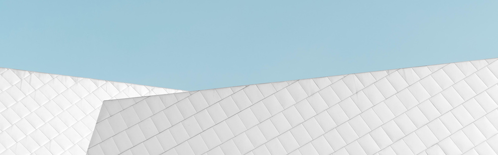 White architecture building abstract social header
